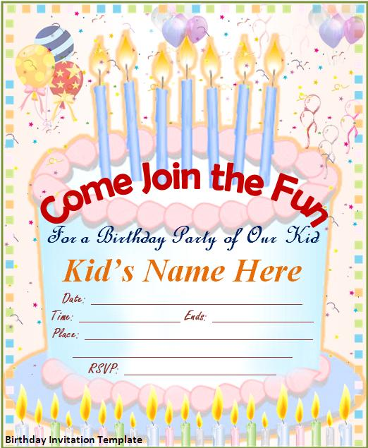 birthday invitation templates pages