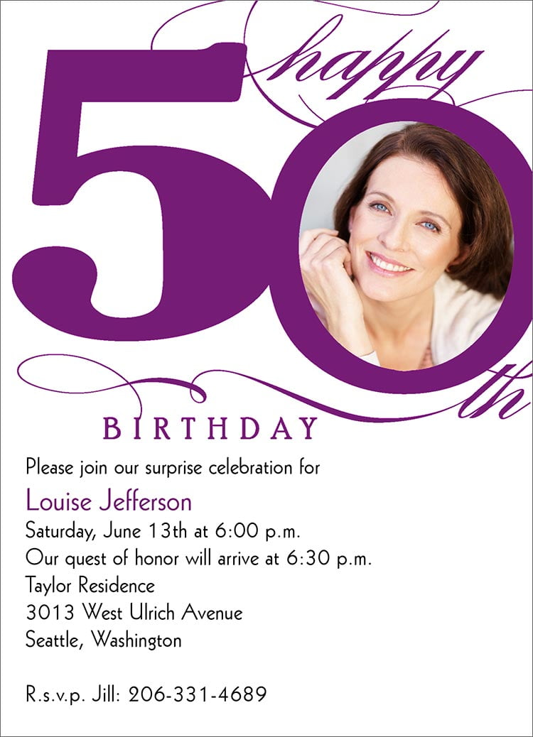 50th birthday invitation templates Bagvania FREE Printable