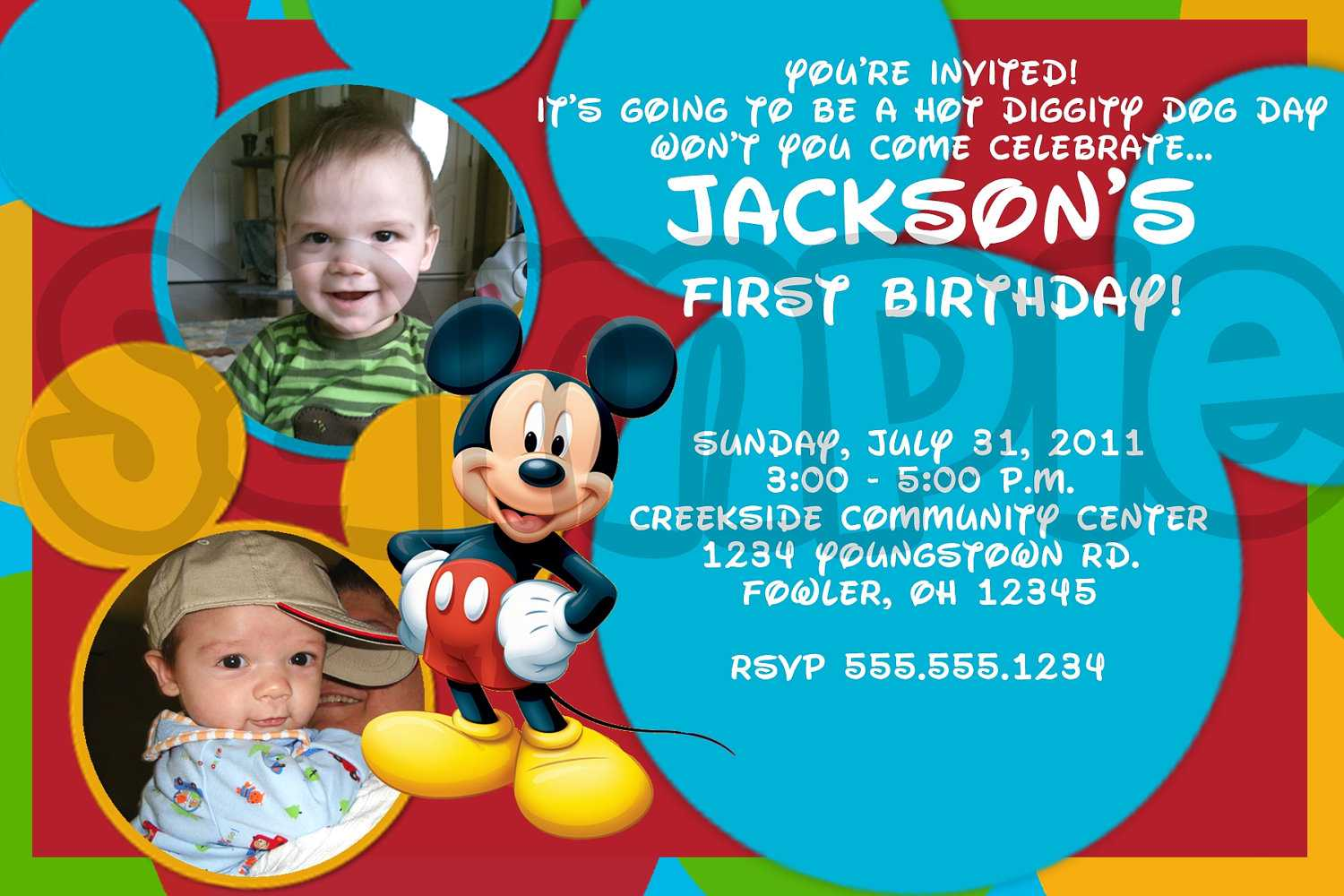 Mickey Mouse Birthday Invitations Ideas – Bagvania FREE Printable ...