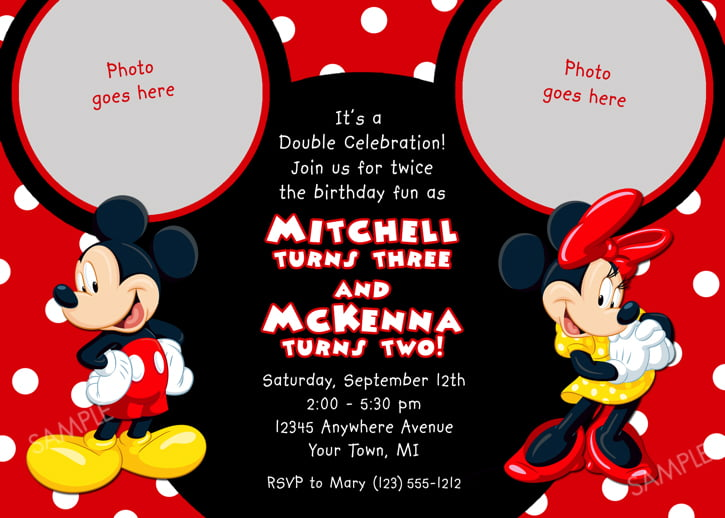 Mickey Mouse Birthday Invitations Wording Bagvania FREE - Minnie mouse birthday invitation message