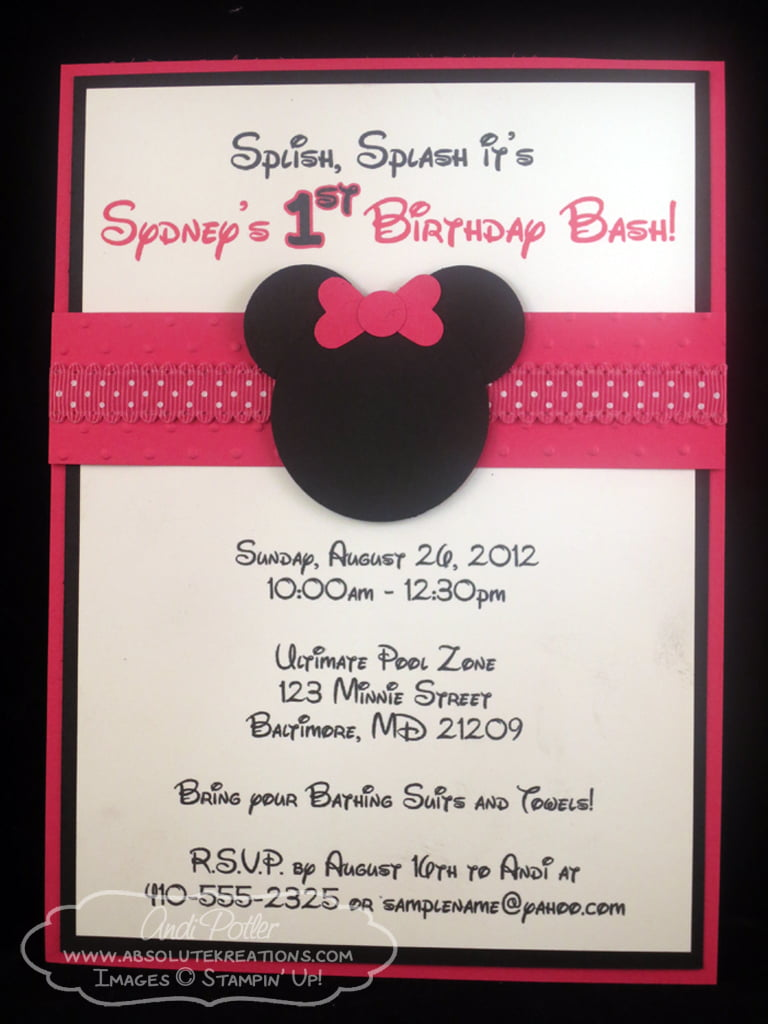 Minnie Mouse Birthday Invitations Ideas – Bagvania FREE ...