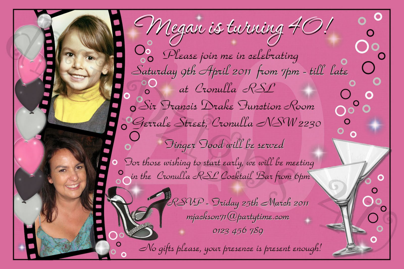 Birthday Invitation Wording for Adult – Bagvania FREE Printable ...
