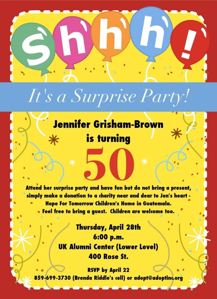 FREE 50th Birthday Party Invitations Wording – Bagvania FREE ...