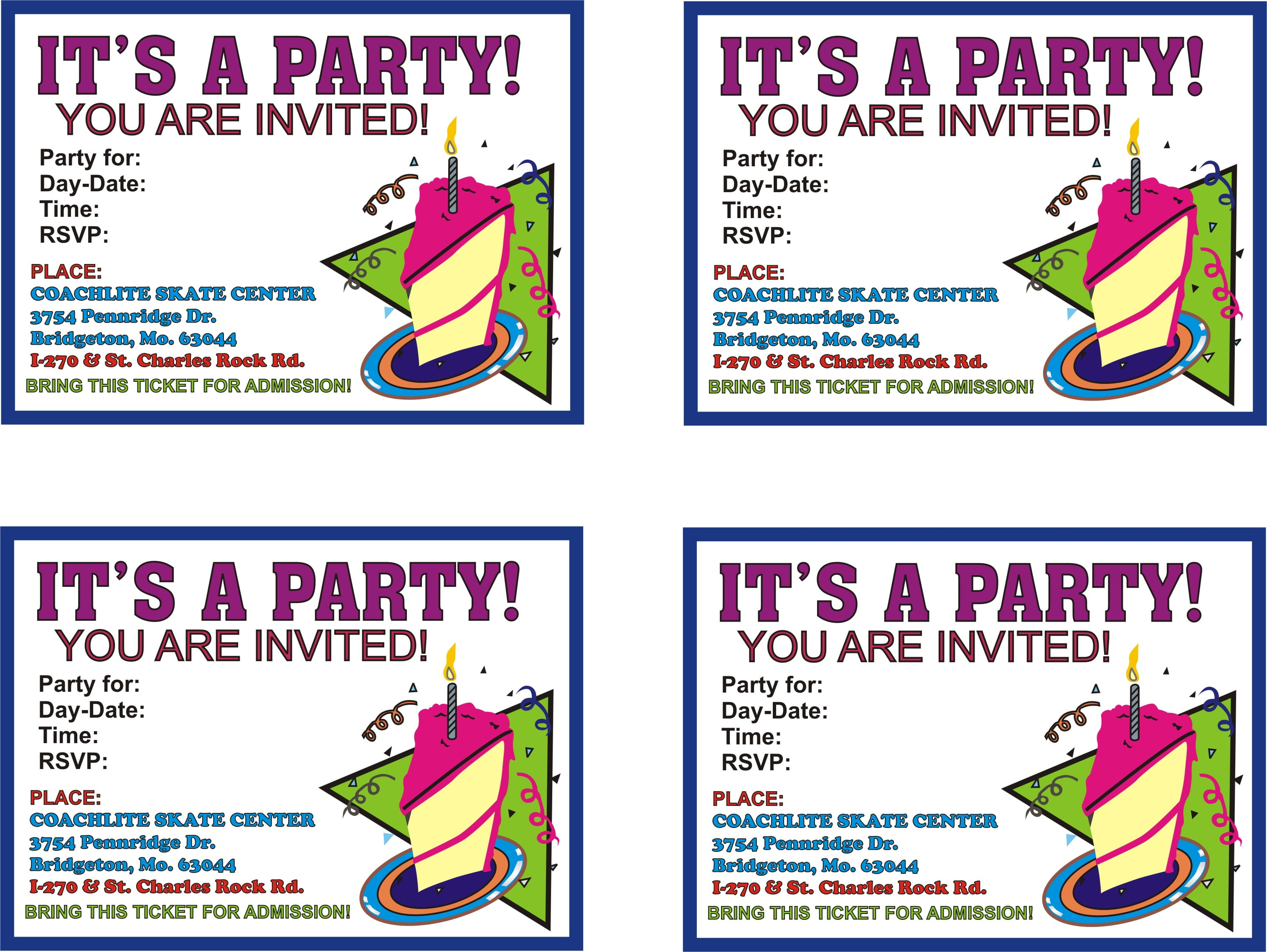 printable birthday invitations online free