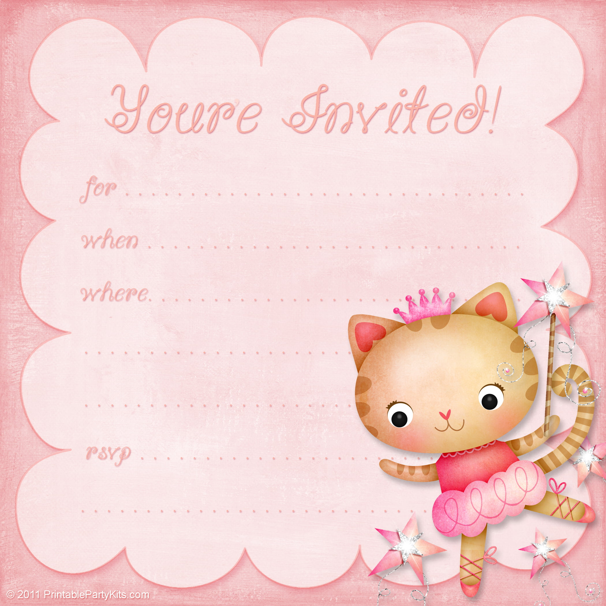 Cute Birthday Invitation Templates Pages