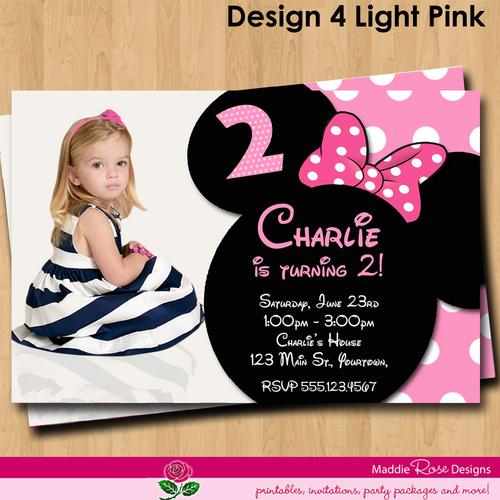 minnie mouse birthday invitations diy