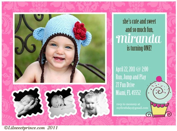 first birthday invitations wording