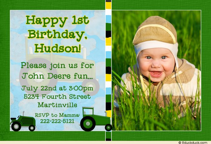 1st John Deere Birthday Invitation