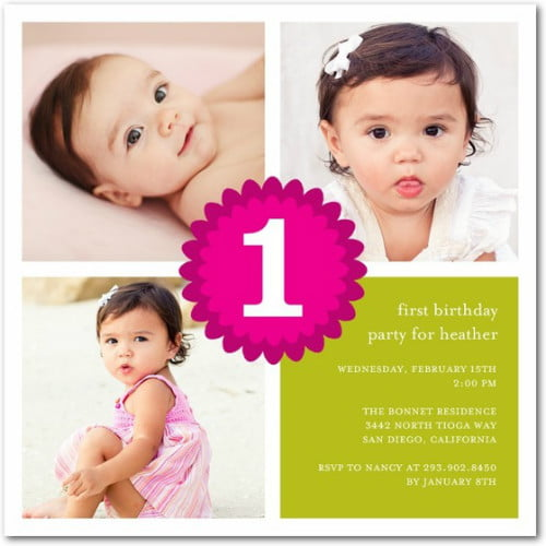 1st Photo Birthday Invitations Ideas