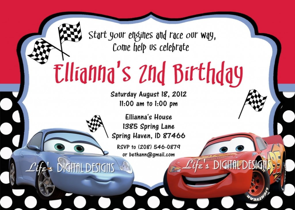 Cars Birthday Invitations Ideas Bagvania FREE Printable – Free Printable Race Car Birthday Invitations