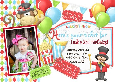 Nd Circus Party Invitation Ideas  Bagvania Free Printable