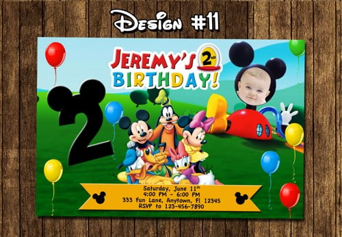 2nd Mickey Mouse Clubhouse Birthday Invitations