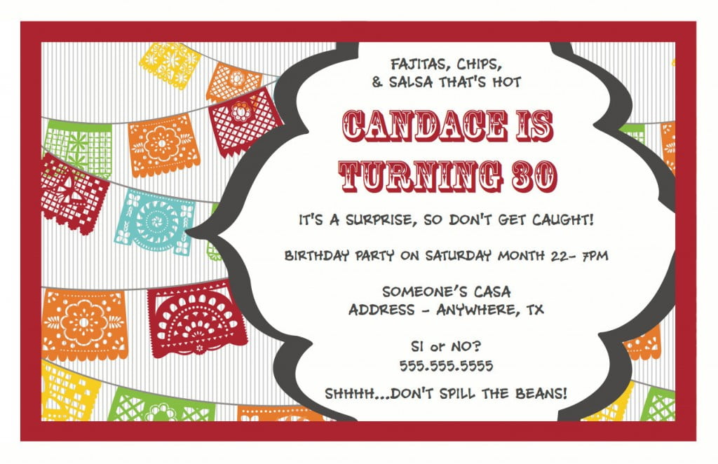 30th Surprise Birthday Party Invitations