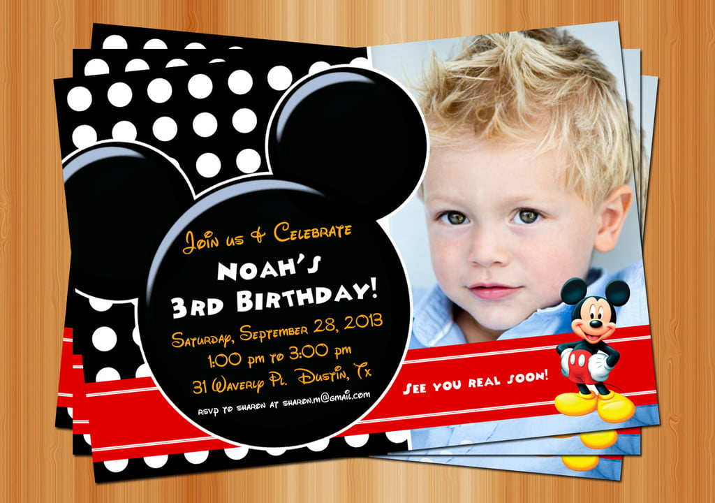 3rd Mickey Mouse Clubhouse Birthday Invitations