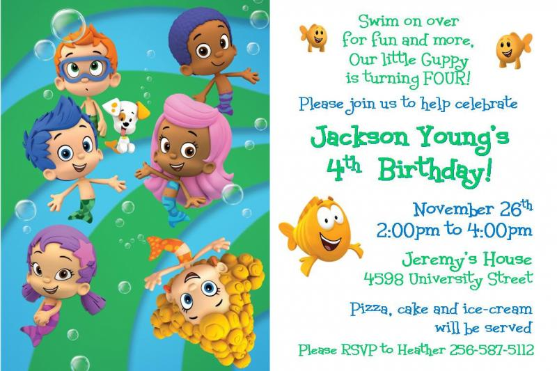 Bubble Guppies Personalized Invitations The Best Invitation In 2017 – Bubble Guppies Party Invites