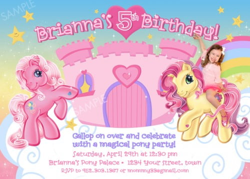 image regarding My Little Pony Printable Birthday Cards known as 5th My Minimal Pony Totally free Printable Birthday Invitation