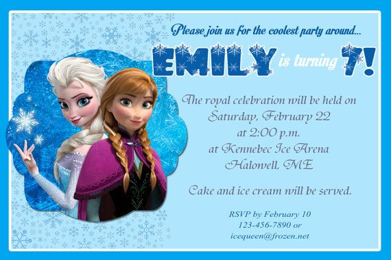 7th frozen birthday party invitations bagvania free printable 7th frozen birthday party invitations stopboris Choice Image
