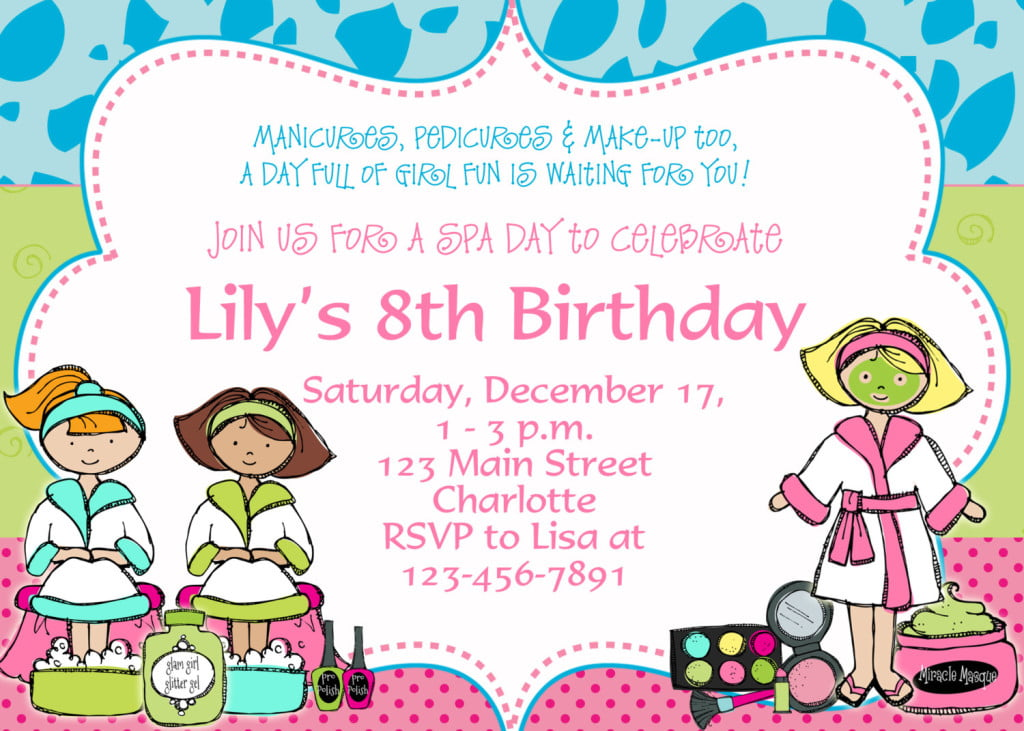 8th Birthday Party Invitation Template