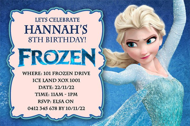 Frozen Birthday Party Invitations Bagvania FREE Printable