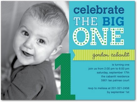 Big One First Birthday Invitation Wording