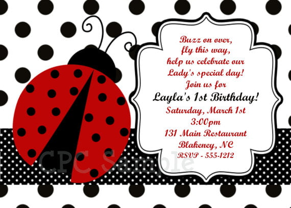 Ladybug Birthday Invitations Ideas Bagvania FREE Printable