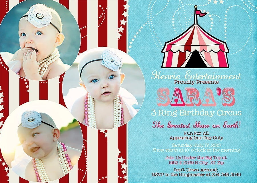 Circus Party Invitation Ideas – Bagvania Free Printable Invitation