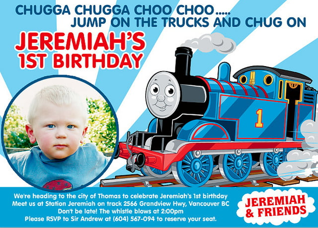 Thomas The Train Birthday Invitations Ideas for Kids Bagvania – Thomas the Train Birthday Invites