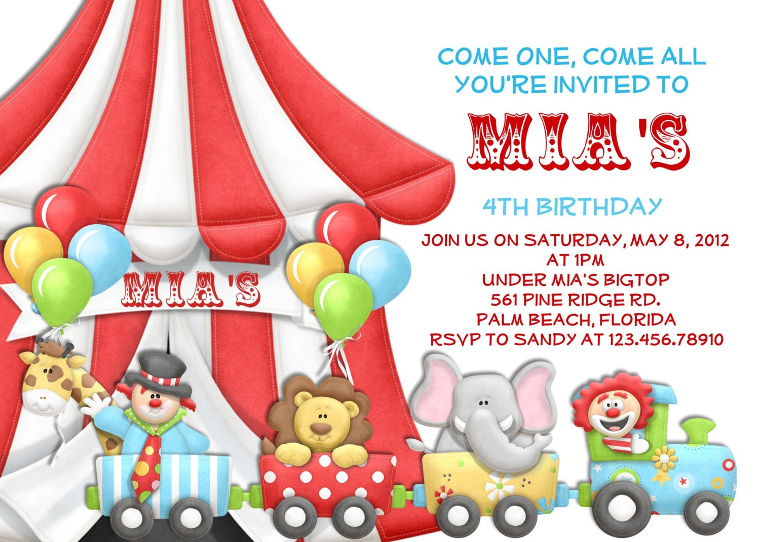 Carnival Birthday Invitations Ideas FREE Printable Invitation Templates Bagvania
