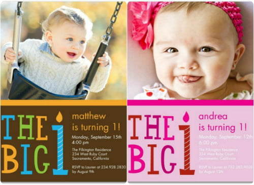 Cute 1st Photo Birthday Invitations Ideas