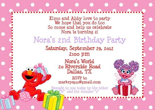 Birthday Invitations Ideas Cute Elmo