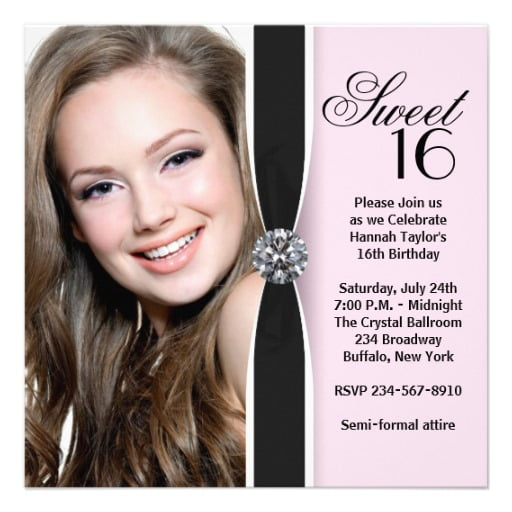 Sweet 16 Birthday Invitation Templates – Sample of Birthday Invitation