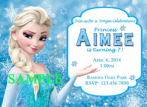 Frozen Cheap Birthday Invitations