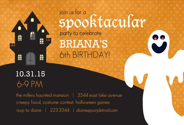 Halloween Invitation Template - Halloween birthday invitations party