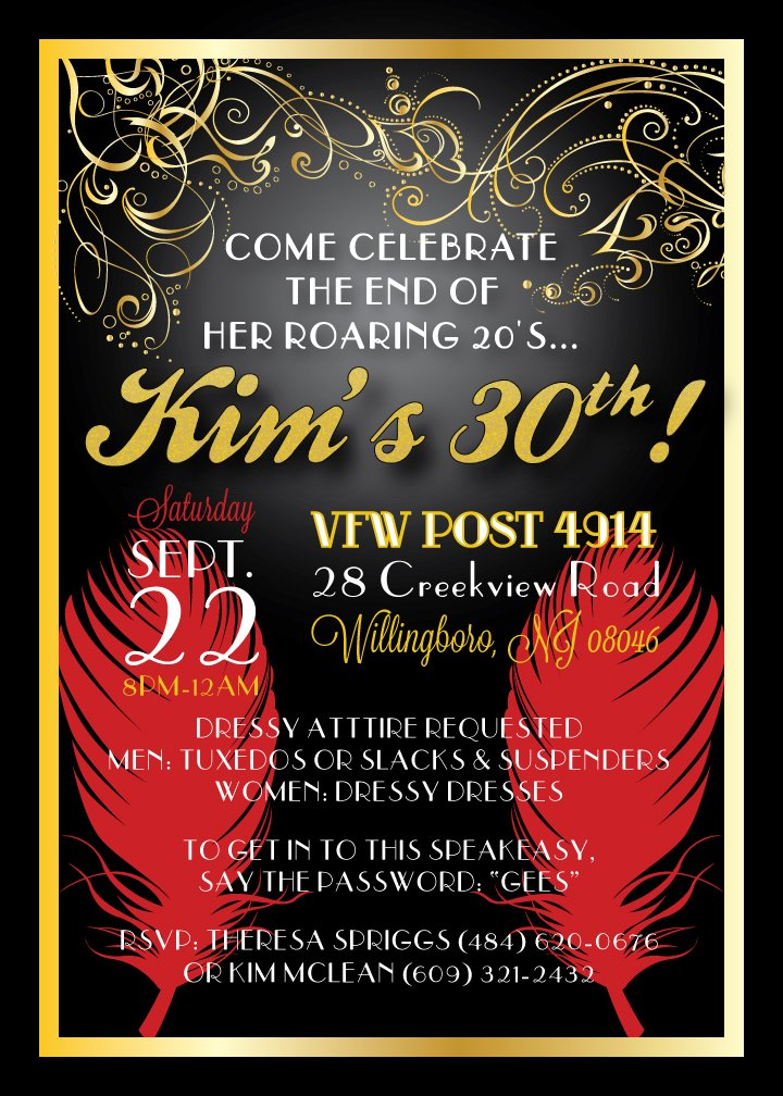 Golden 30th Birthday Invitations Ideas