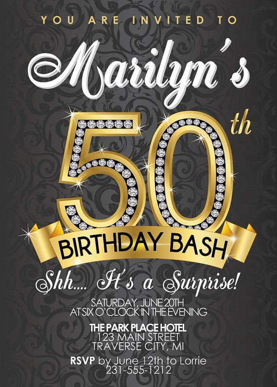 free printable 50th birthday party invitations