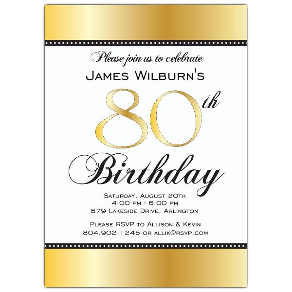 80th birthday invitations ideas – bagvania free printable, Birthday invitations