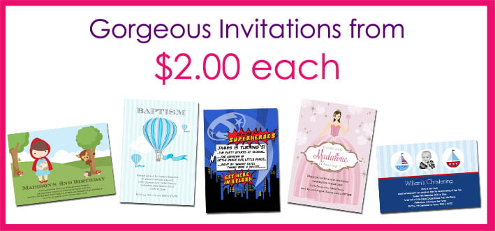 Gorgeous Cheap Birthday Invitations