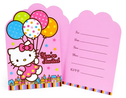 Hello Kitty Birthday Party Invitation Template