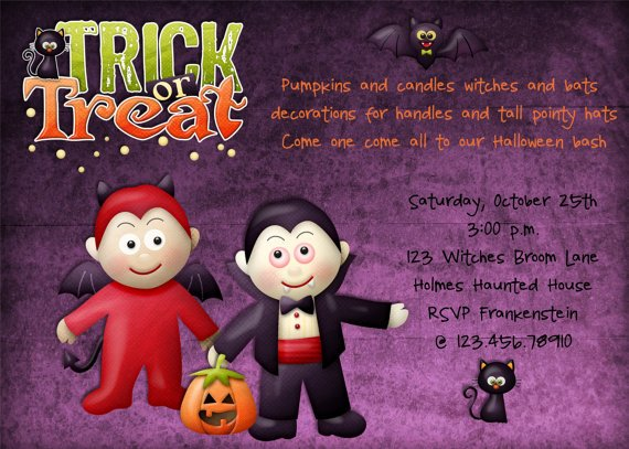 Halloween Birthday Party Invitation Ideas – Bagvania FREE ...
