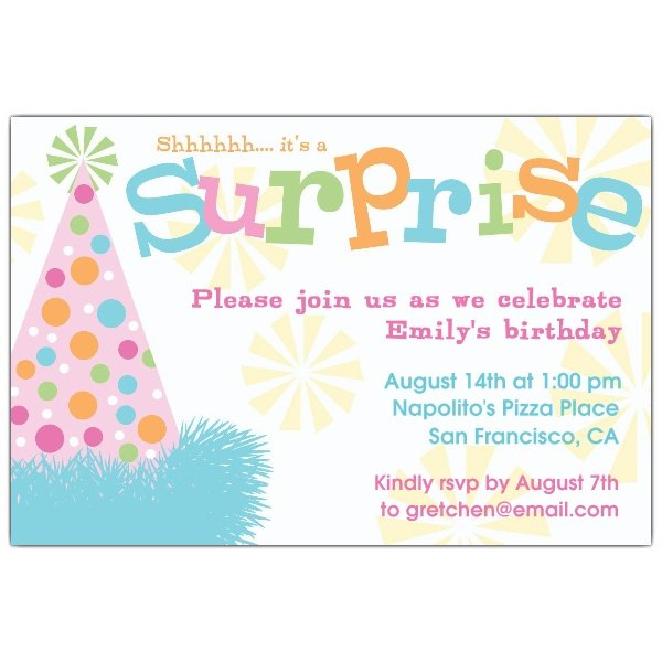 kids surprise birthday invitations ideas