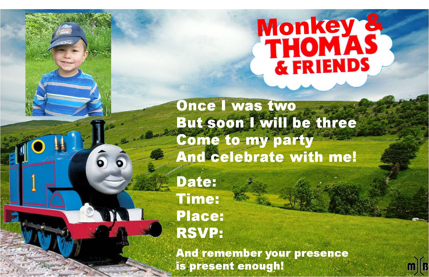 Little Conductor Thomas The Train FREE Printable Birthday
