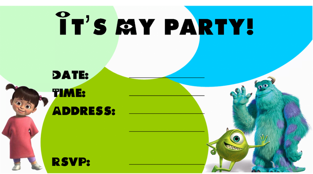 Monsters Inc Invitations Birthday Menshealtharts