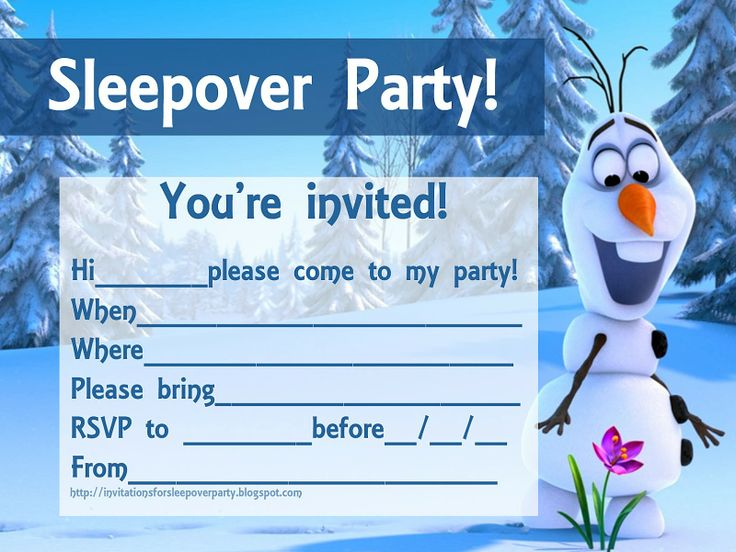 Olaf Frozen Birthday Party Invitations Template Bagvania FREE - Party invitation template: frozen birthday party invitation template