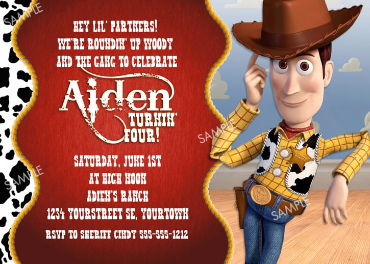 Toy Story Birthday Invitations Ideas – Bagvania FREE ...
