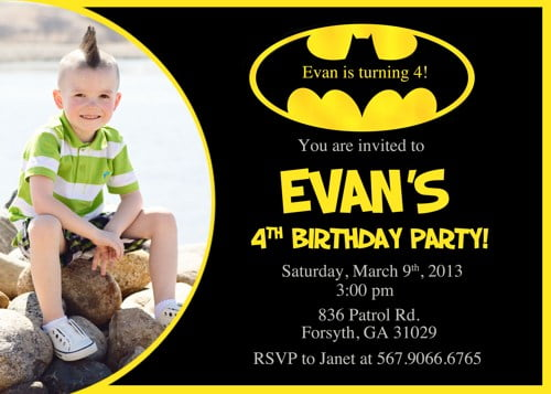 Batman Birthday Invitations Ideas FREE Printable