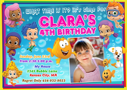 Photo Bubble Guppies FREE Printable Birthday Invitation