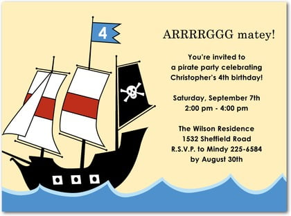 Pirate birthday invitations ideas bagvania free printable pirate ship pirate birthday invitations stopboris Choice Image