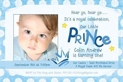 Prince 1st Birthday Invitation Wording Bagvania FREE Printable