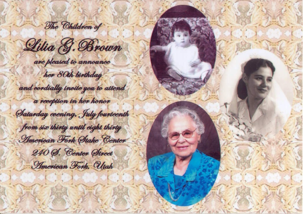 Simple 80th Birthday Invitations Ideas