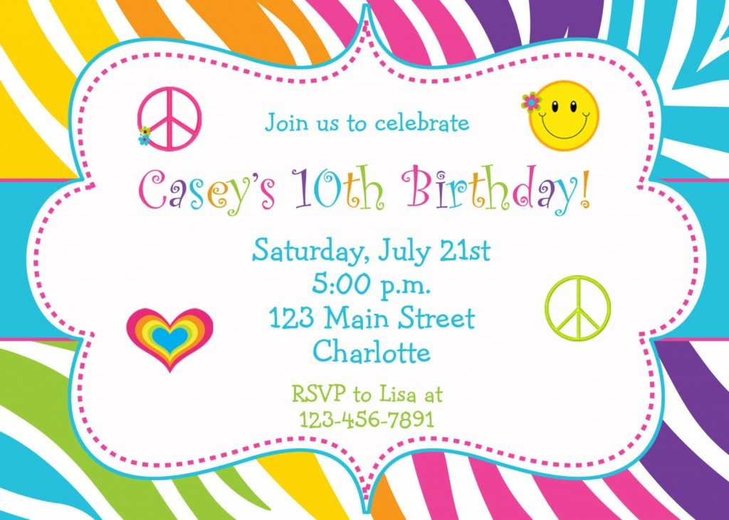 Simple Girl Birthday Invitations